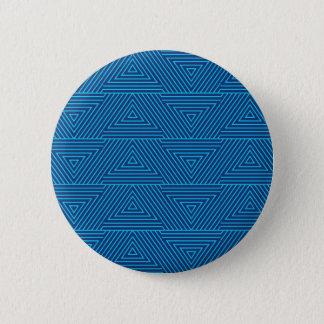 Bóton Redondo 5.08cm teste padrão azul do triângulo