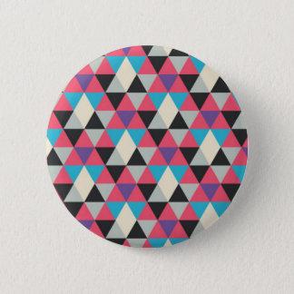 Bóton Redondo 5.08cm Teste padrão azul e branco cor-de-rosa do