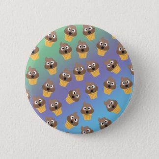 Bóton Redondo 5.08cm Teste padrão bonito do cone do sorvete de Emoji do