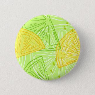 Bóton Redondo 5.08cm Teste padrão brilhante dos limões do citrino do