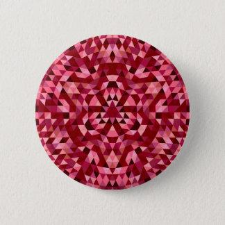 Bóton Redondo 5.08cm Teste padrão circular marrom do triângulo