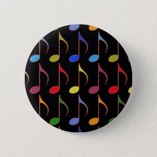 Bóton Redondo 5.08cm teste padrão colorido das notas musicais
