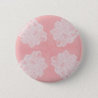 Bóton Redondo 5.08cm Teste padrão cor-de-rosa de Geode do vintage