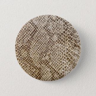 Bóton Redondo 5.08cm Teste padrão da pele do réptil