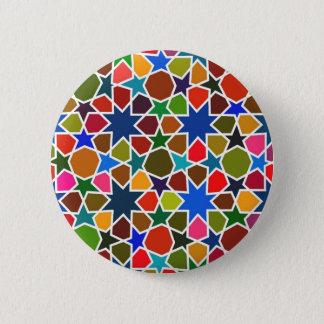 Bóton Redondo 5.08cm Teste padrão de estrela colorido - pintura de seda