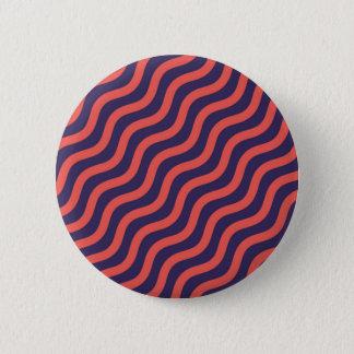 Bóton Redondo 5.08cm Teste padrão de onda geométrico abstrato