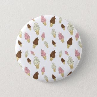 Bóton Redondo 5.08cm Teste padrão do cone do sorvete