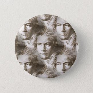 Bóton Redondo 5.08cm Teste padrão do retrato de Beethoven
