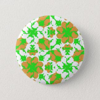 Bóton Redondo 5.08cm Teste padrão floral gráfico