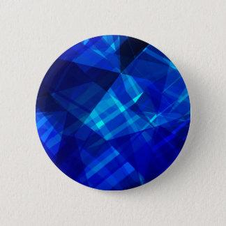 Bóton Redondo 5.08cm Teste padrão geométrico do gelo azul legal