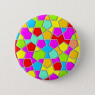 Bóton Redondo 5.08cm teste padrão geométrico islâmico