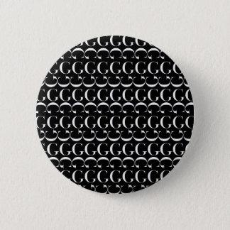 Bóton Redondo 5.08cm Teste padrão inicial do monograma, letra G no
