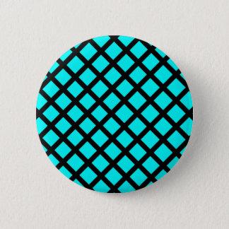 Bóton Redondo 5.08cm Teste padrão preto do Aqua