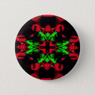 Bóton Redondo 5.08cm Teste padrão sazonal verde vermelho legal da