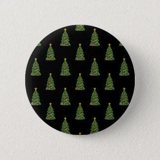 Bóton Redondo 5.08cm Teste padrão sem emenda com árvores de Natal