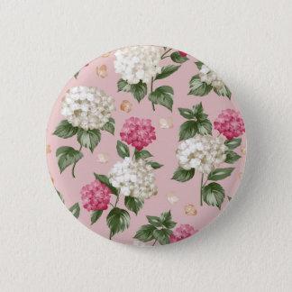 Bóton Redondo 5.08cm Teste padrão sem emenda floral do Hydrangea