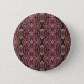 Bóton Redondo 5.08cm Teste padrão tribal moderno do rosa chique de