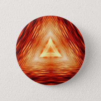 Bóton Redondo 5.08cm Teste padrão vermelho do triângulo