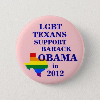 Bóton Redondo 5.08cm Texans de LGBT para Obama 2012