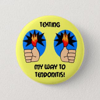 Bóton Redondo 5.08cm Texting engraçado