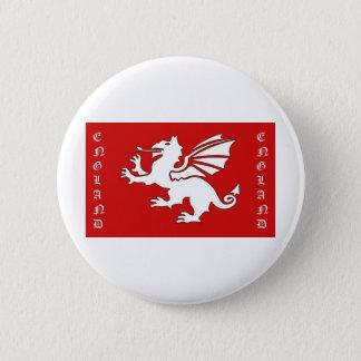Bóton Redondo 5.08cm Texto branco de Inglaterra do dragão
