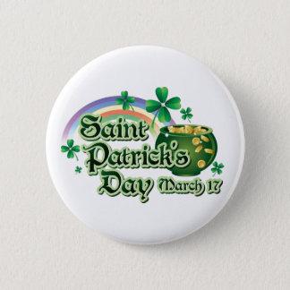Bóton Redondo 5.08cm Texto do dia de St Patrick feliz