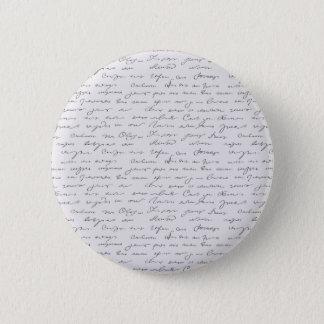 Bóton Redondo 5.08cm Texto escrito da mão elegante