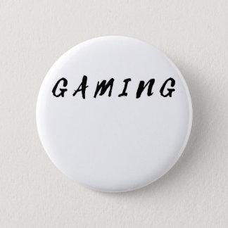 Bóton Redondo 5.08cm Texto limpo simples do preto do jogo do Gamer