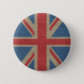Bóton Redondo 5.08cm Textura BRITÂNICA na moda legal de serapilheira da