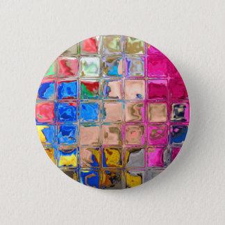 Bóton Redondo 5.08cm Textura colorida dos blocos de vidro
