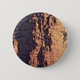 Bóton Redondo 5.08cm textura do penhasco da sombra