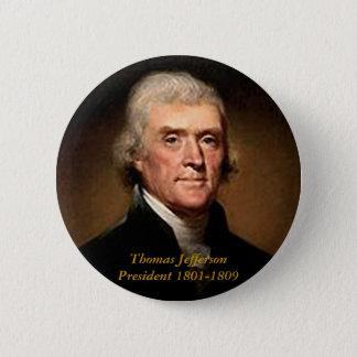 Bóton Redondo 5.08cm Thomas Jefferson - botão