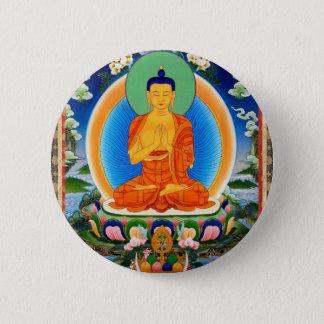 Bóton Redondo 5.08cm Tibetano Thangka Prabhutaratna Buddha