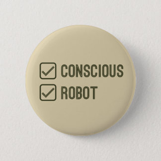 Bóton Redondo 5.08cm Tickbox consciente & do robô - crachá
