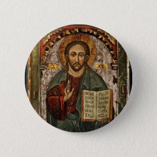 Bóton Redondo 5.08cm Todo o cristo poderoso - Chrystus Pantokrator