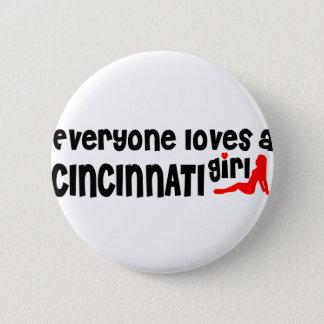 Bóton Redondo 5.08cm Todos ama uma menina de Cincinnati
