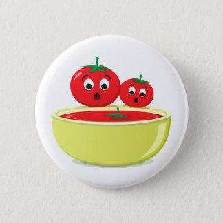 Bóton Redondo 5.08cm Tomate que cai no botão da comida da sopa do