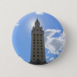Bóton Redondo 5.08cm Torre cubana da liberdade em Miami