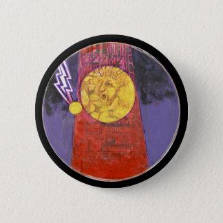 Bóton Redondo 5.08cm Torre da cor da destruição - botão de Amazng