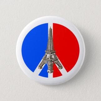 Bóton Redondo 5.08cm Torre Eiffel da paz de Solidarité