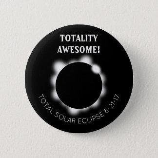 Bóton Redondo 5.08cm Totalidade do eclipse solar impressionante