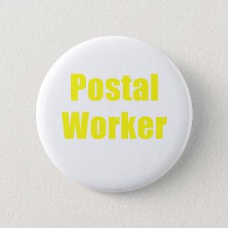 Bóton Redondo 5.08cm Trabalhador postal