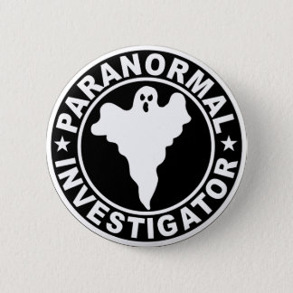 Bóton Redondo 5.08cm Traje Paranormal do Dia das Bruxas do logotipo do