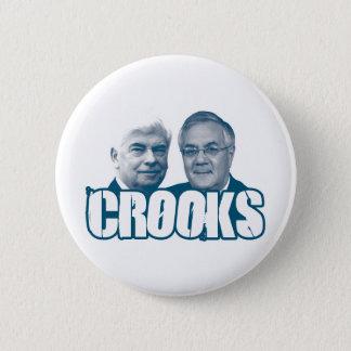 Bóton Redondo 5.08cm TRAPACEIROS: Chris Dodd e discussão Frank