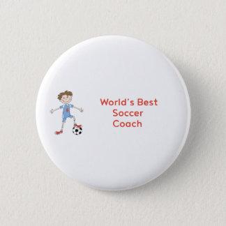 Bóton Redondo 5.08cm Treinador do futebol do mundo o melhor