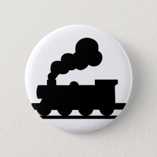 Bóton Redondo 5.08cm Trem de estrada de ferro