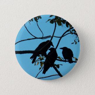 Bóton Redondo 5.08cm Três corvos em uma árvore