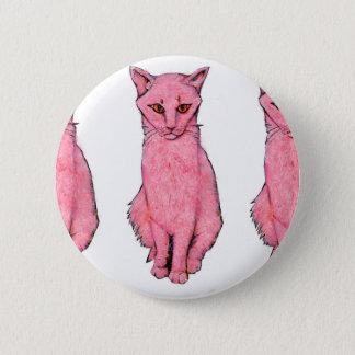 Bóton Redondo 5.08cm Três gatinhos cor-de-rosa
