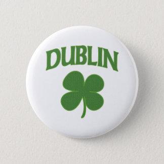 Bóton Redondo 5.08cm Trevo do irlandês de Dublin