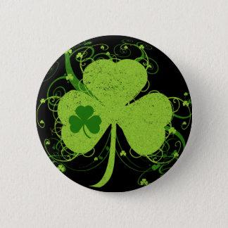 Bóton Redondo 5.08cm Trevo irlandês verde